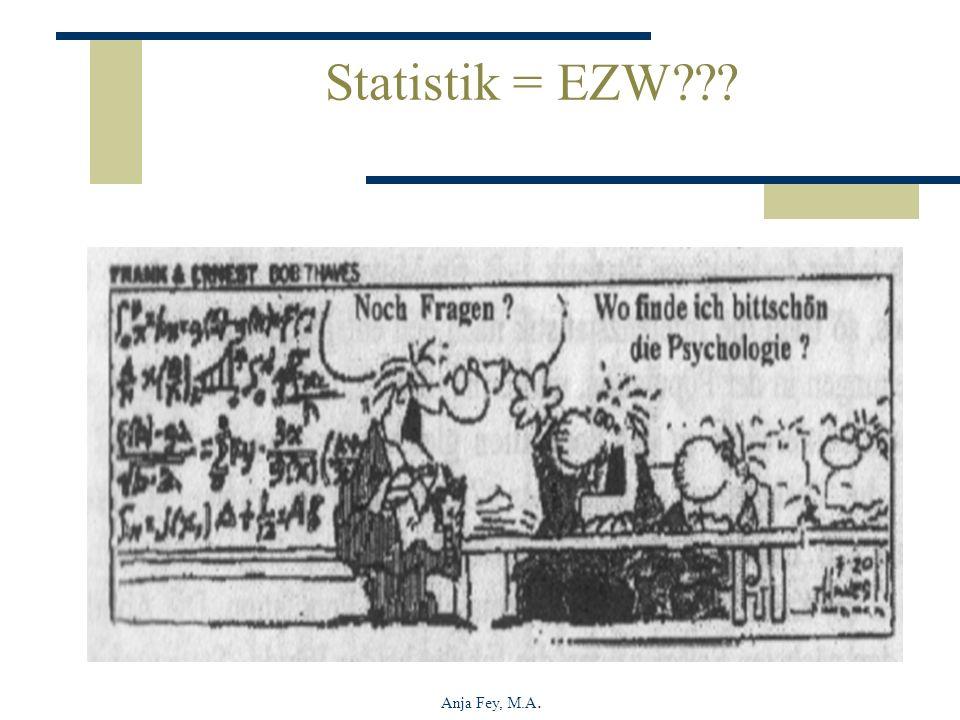 Anja Fey, M.A. Statistik = EZW???