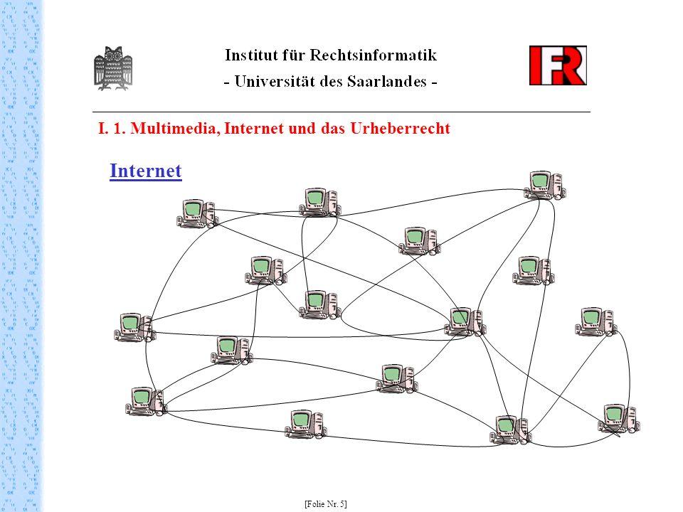 I. 1. Multimedia, Internet und das Urheberrecht [Folie Nr. 5] Internet