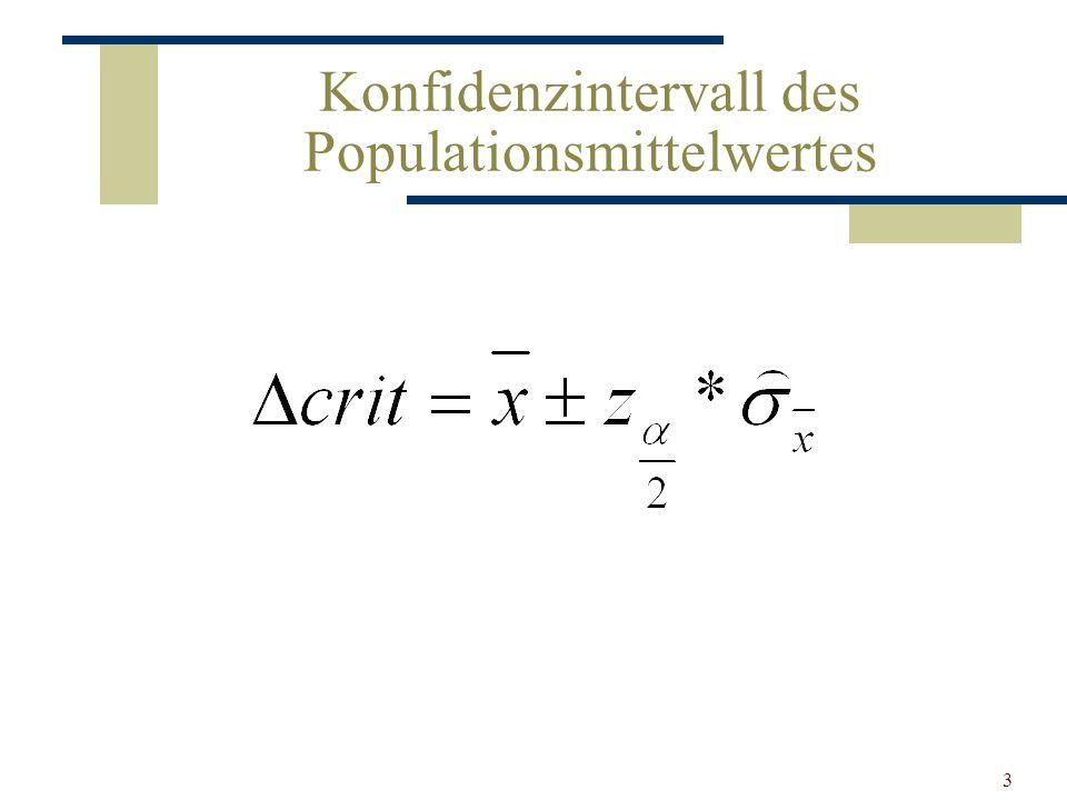 3 Konfidenzintervall des Populationsmittelwertes