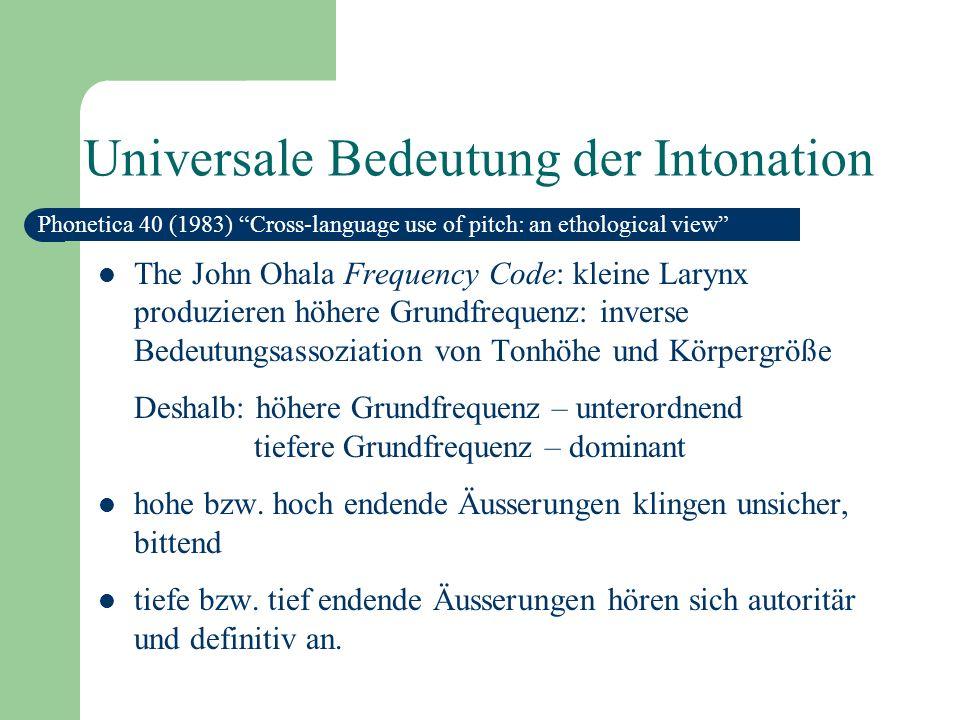 Zusammenfassung: Funktionen der Intonation