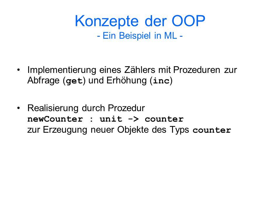 Diskussion Binary-Methods-Problem: Im Gegensatz zu prozeduraler Programmierung fällt der Objektzugriff bei OOP einseitig aus: Point.add(Point q) { return new Point (this.x + q.x, this.y + q.y); }