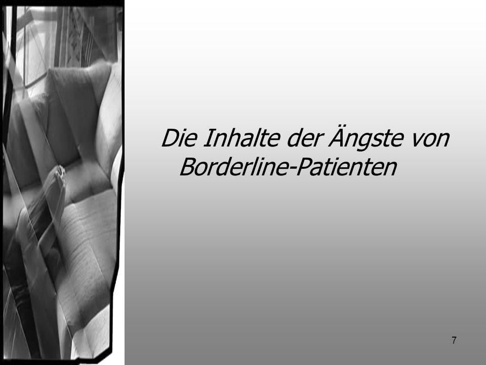 7 Die Inhalte der Ängste von Borderline-Patienten