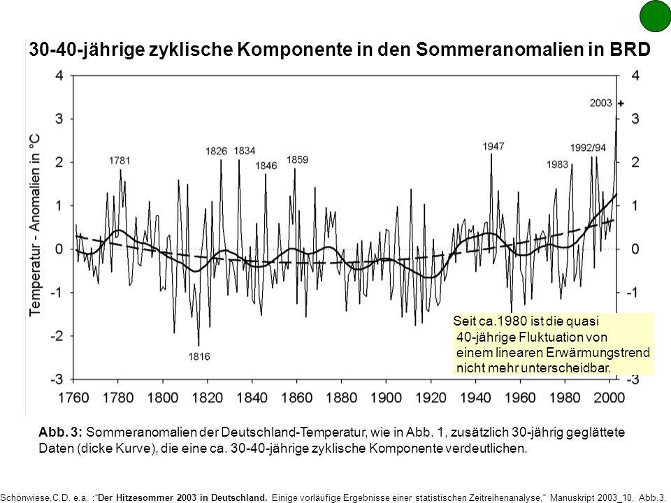 Schönwiese,C.D.e.a. :Der Hitzesommer 2003 in Deutschland.