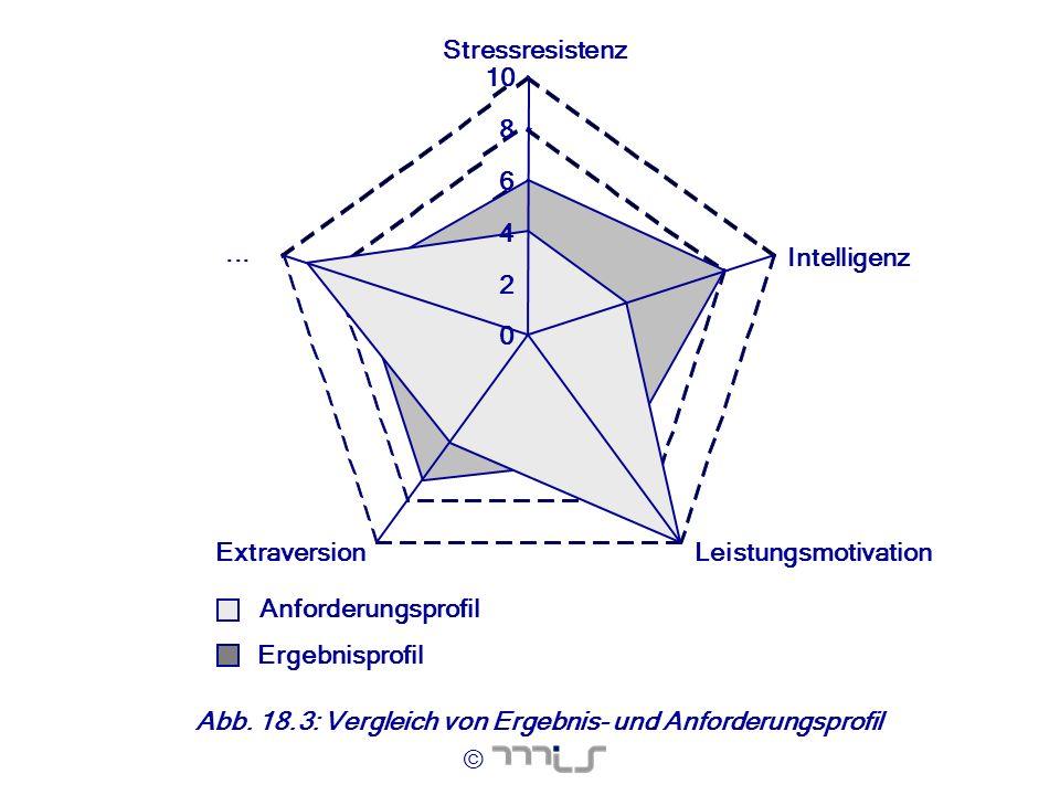 © Abb. 18.3: Vergleich von Ergebnis- und Anforderungsprofil