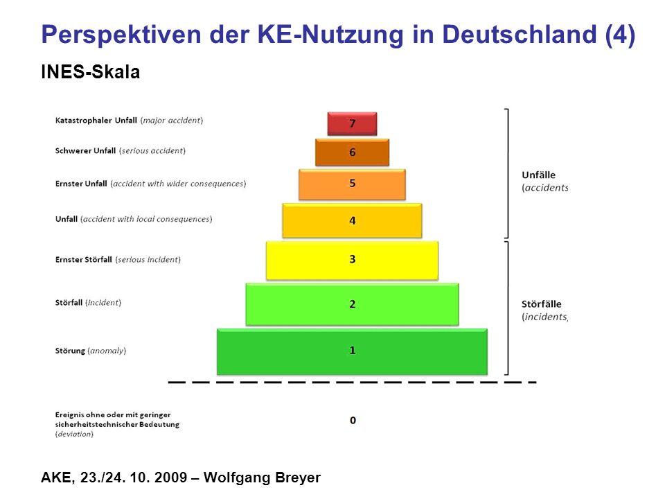 AKE, 23./24. 10. 2009 – Wolfgang Breyer Perspektiven der KE-Nutzung in Deutschland (4) INES-Skala