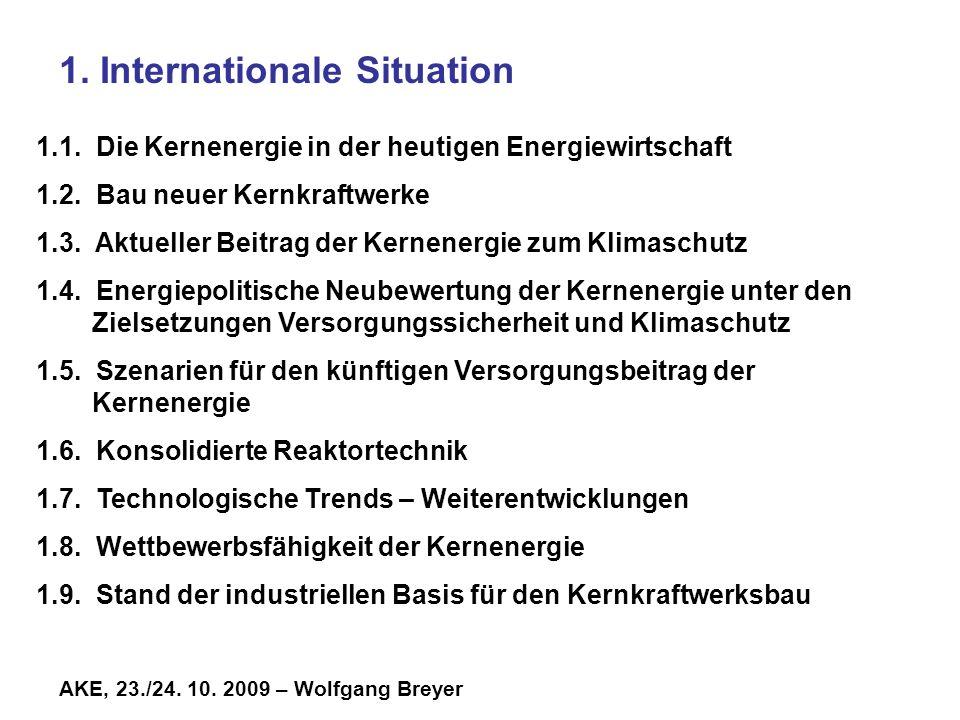 AKE, 23./24.10. 2009 – Wolfgang Breyer 1. Internationale Situation 1.1.