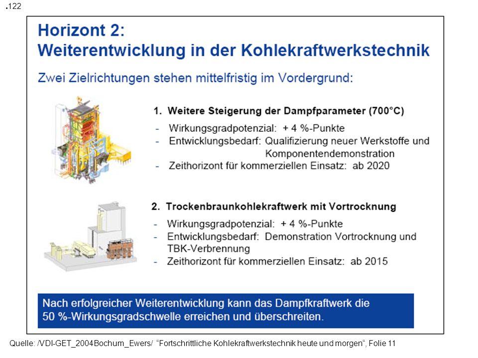 Quelle: /VDI-GET_2004Bochum_Ewers/ Fortschrittliche Kohlekraftwerkstechnik heute und morgen, Folie 16