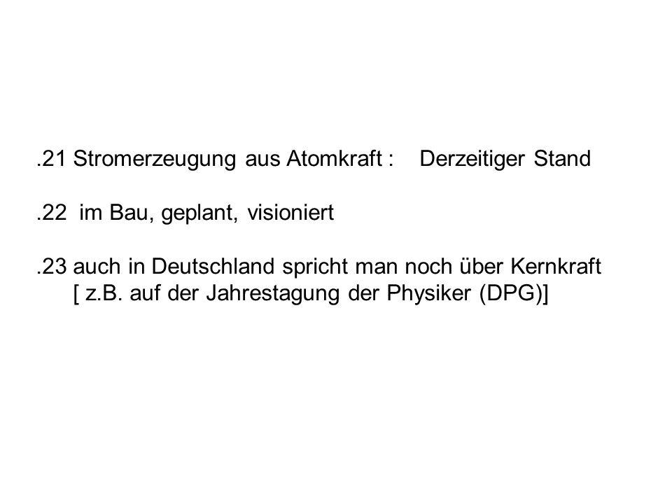 .21 Stand Link zum Original im AKE-Archiv Quelle: J.U.Knebel: Neue Kernreaktoren der Generation 4.