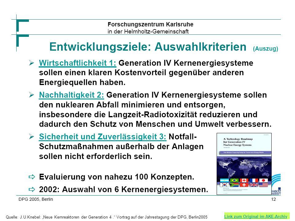 SCWR Link zum Original im AKE-Archiv Quelle: J.U.Knebel: Neue Kernreaktoren der Generation 4.