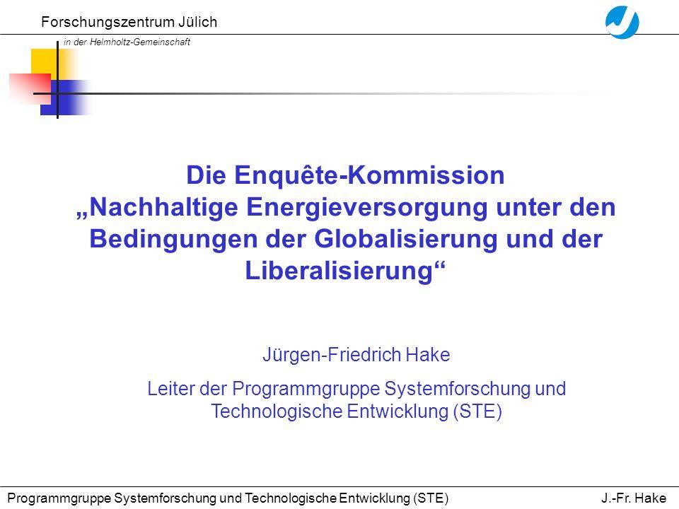 Forschungszentrum Jülich in der Helmholtz-Gemeinschaft J.-Fr.