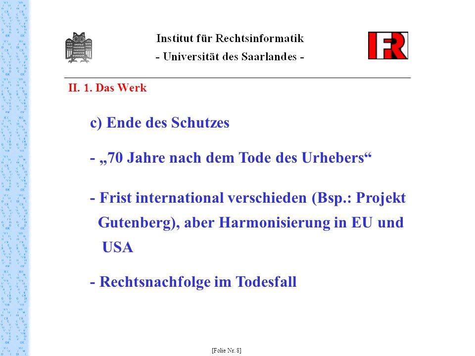 II. 1. Das Werk [Folie Nr.
