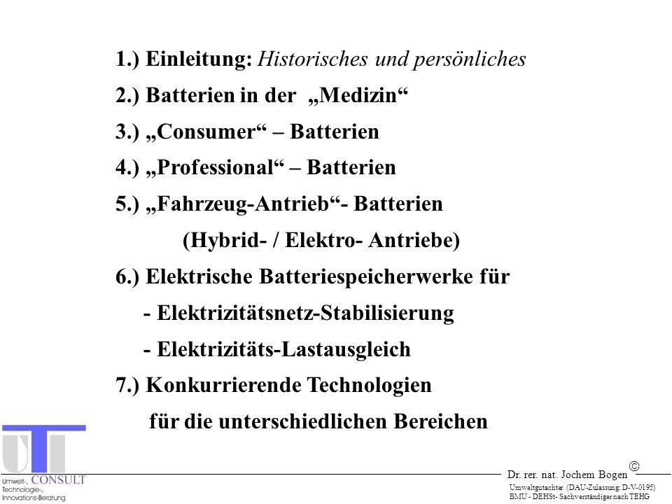 Dr. rer. nat. Jochem Bogen Umweltgutachter (DAU-Zulassung: D-V-0195) BMU - DEHSt- Sachverständiger nach TEHG 1.) Einleitung: Historisches und persönli