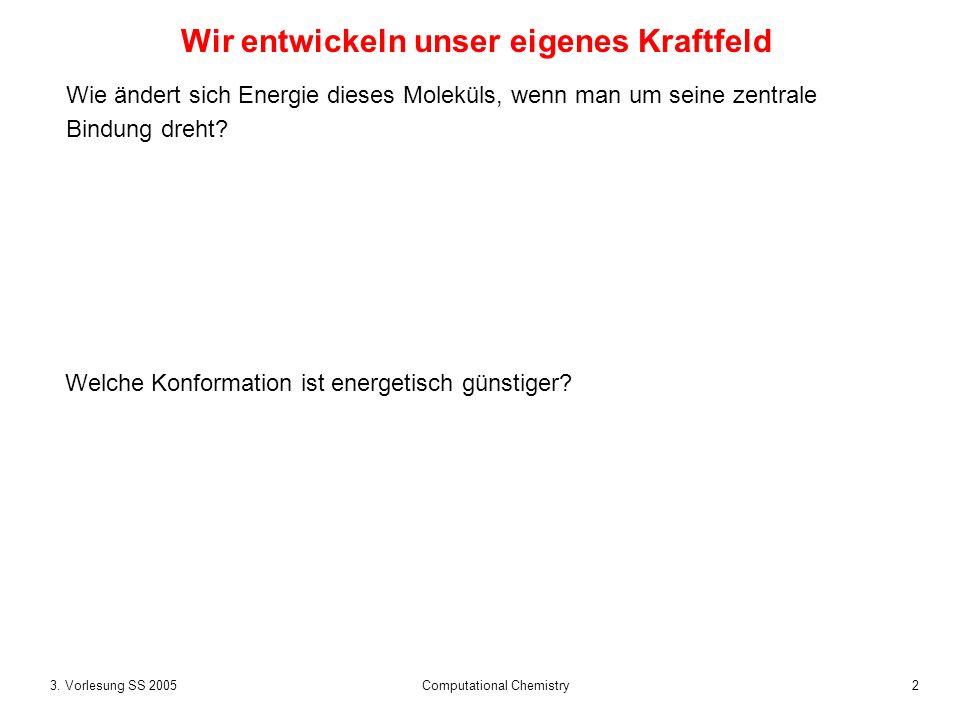 33.Vorlesung SS 2005 Computational Chemistry Warum Molekülmechanik-Kraftfelder.