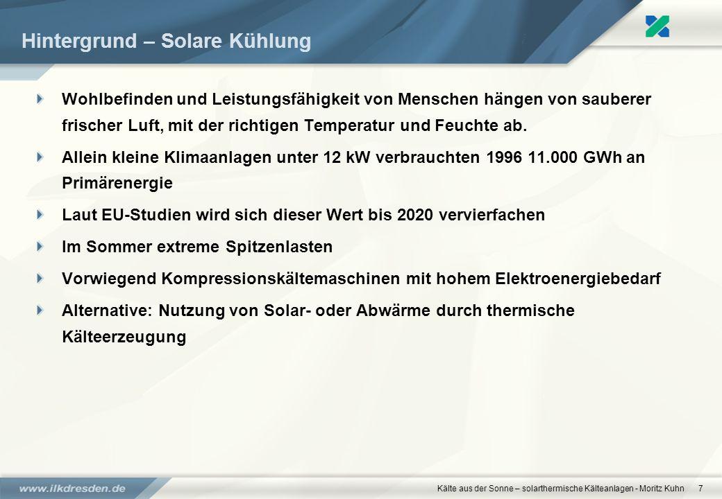 Kälte aus der Sonne – solarthermische Kälteanlagen - Moritz Kuhn7 Hintergrund – Solare Kühlung Wohlbefinden und Leistungsfähigkeit von Menschen hängen