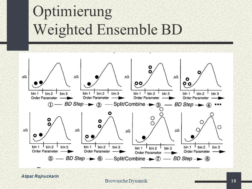 Brownsche Dynamik18 Optimierung Weighted Ensemble BD Atipat Rojnuckarin