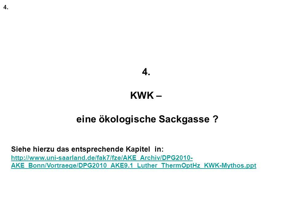 4.KWK – eine ökologische Sackgasse . 4.
