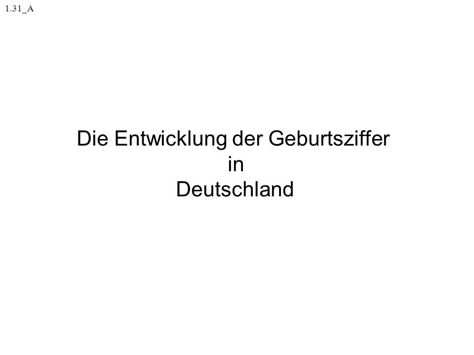 1.31_A Die Entwicklung der Geburtsziffer in Deutschland