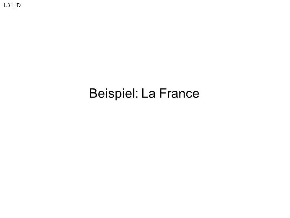Beispiel: La France 1.31_D
