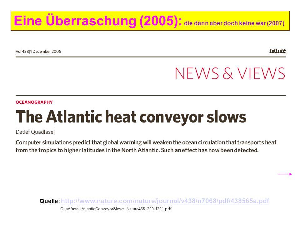 Eine Überraschung (2005): die dann aber doch keine war (2007) Quelle: http://www.nature.com/nature/journal/v438/n7068/pdf/438565a.pdf http://www.natur