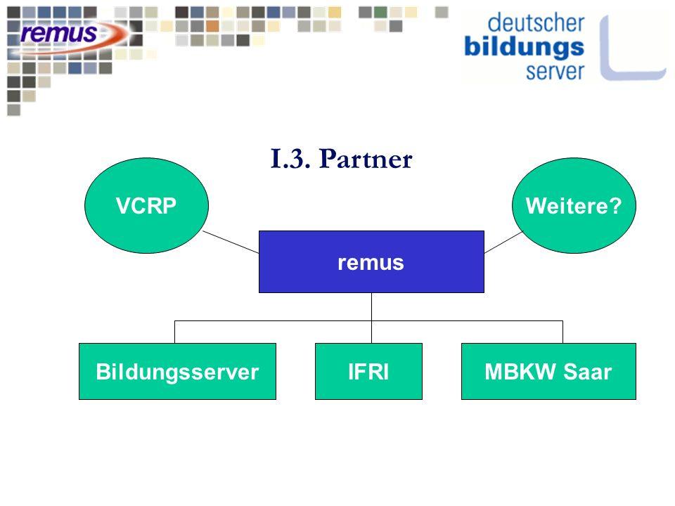 remus BildungsserverMBKW SaarIFRI I.3. Partner VCRPWeitere