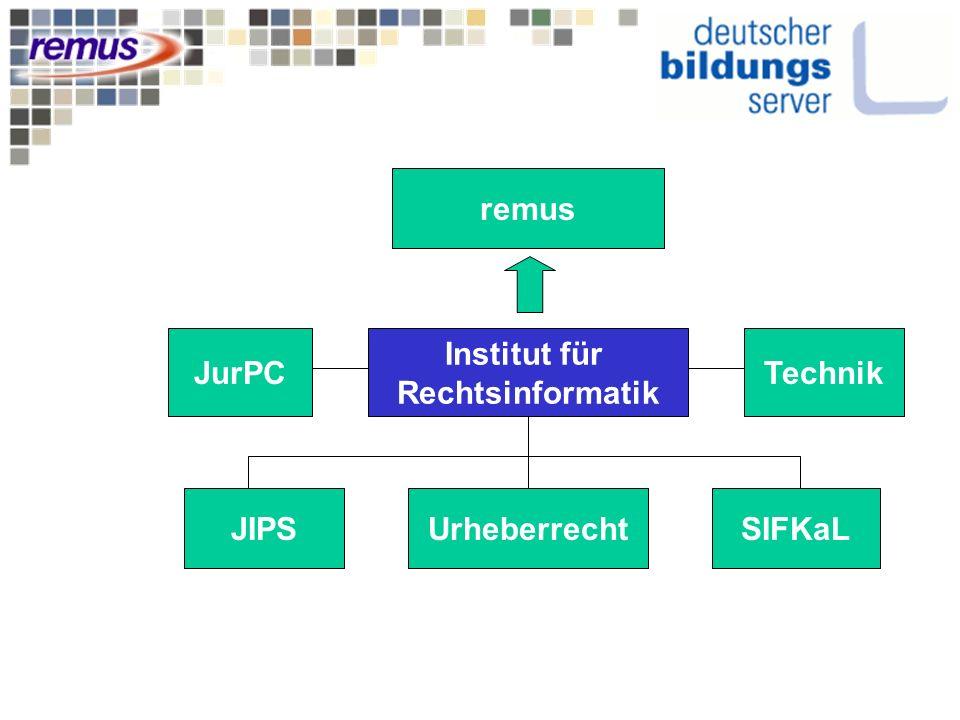Institut für Rechtsinformatik remus JIPSSIFKaLUrheberrecht JurPCTechnik