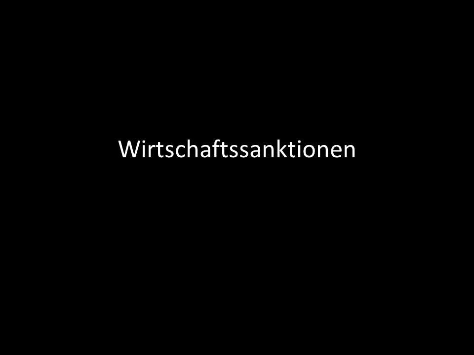 Begriffe WIRTSCHAFTSSANKTIONEN EMBARGO BOYKOTT KAUF/IMPORT VERKAUF/EXPORT
