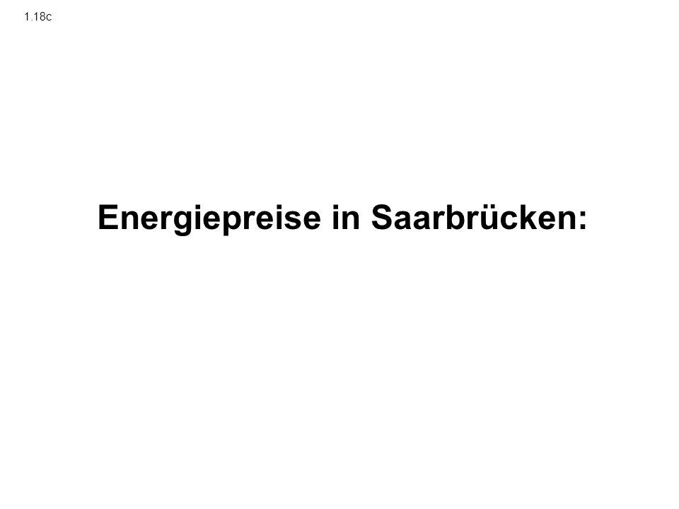 Energiepreise in Saarbrücken: 1.18c