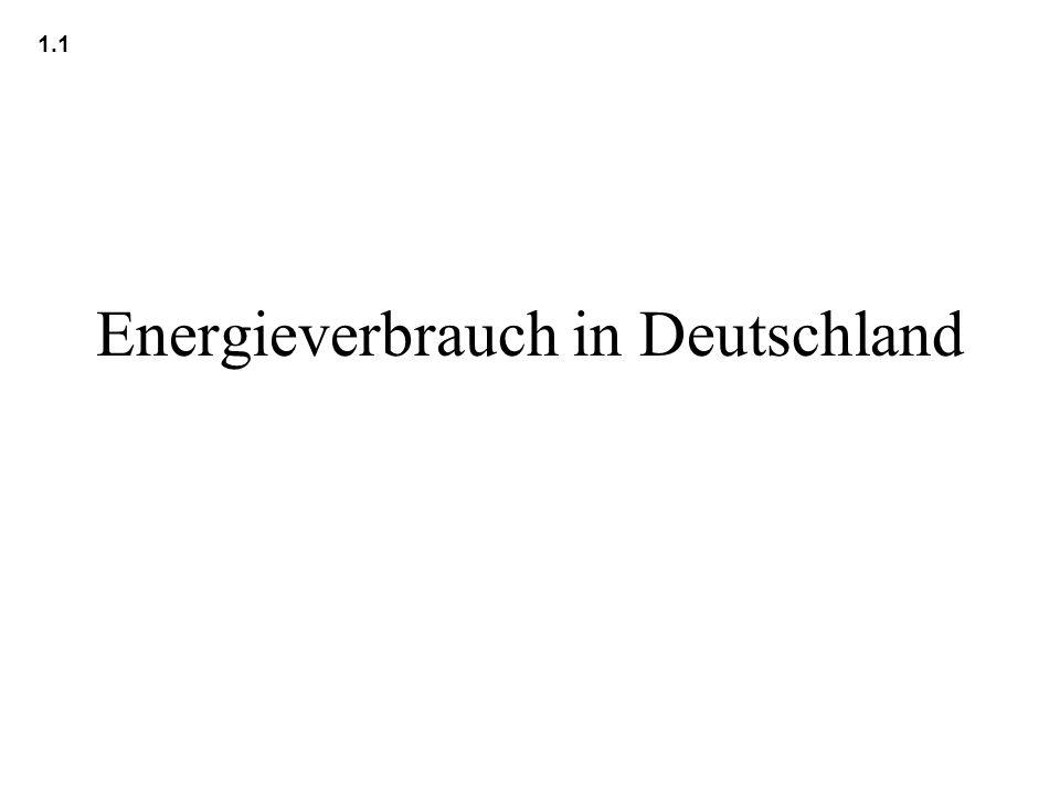 Energieverbrauch in Deutschland 1.1