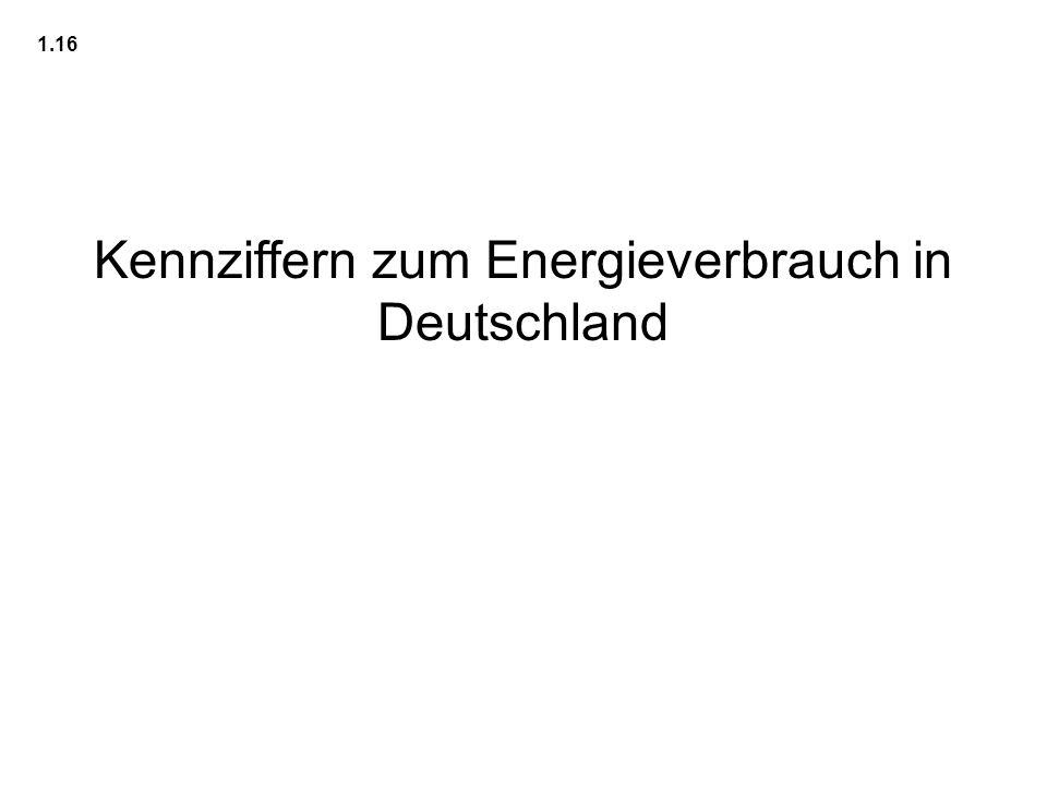 Kennziffern zum Energieverbrauch in Deutschland 1.16
