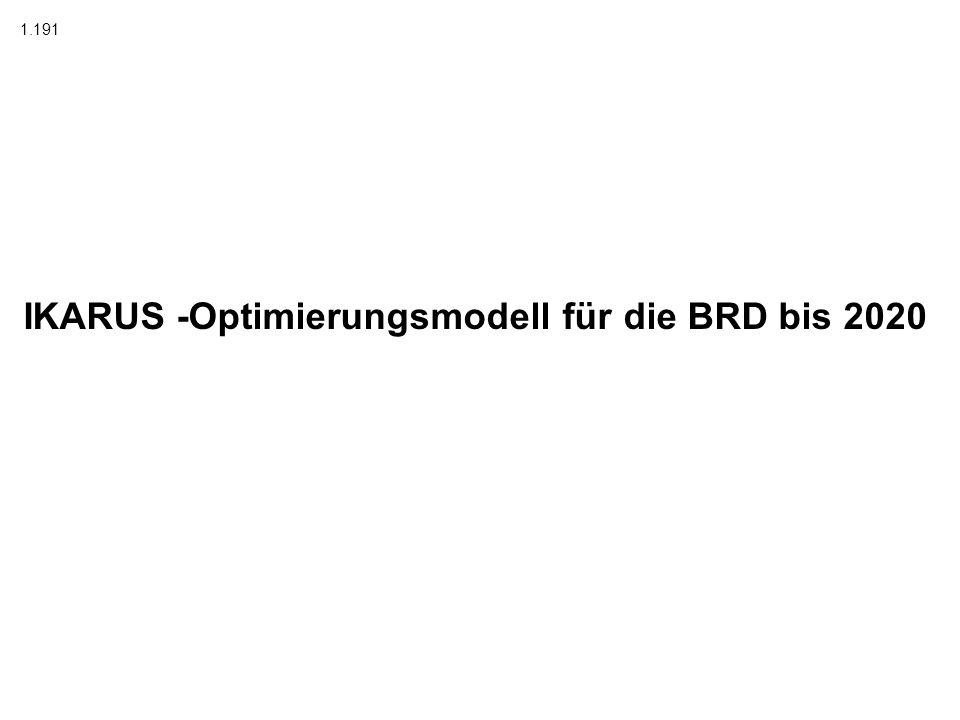 IKARUS -Optimierungsmodell für die BRD bis 2020 1.191