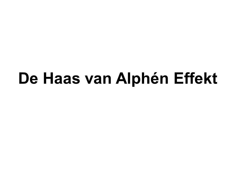 De Haas van Alphén Effekt