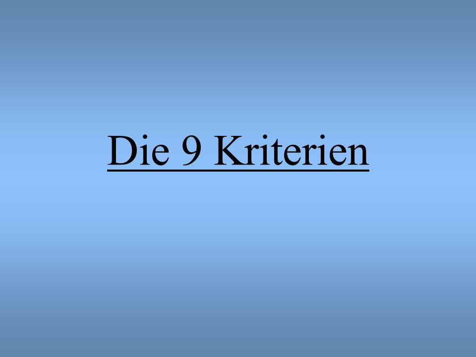 Die 9 Kriterien