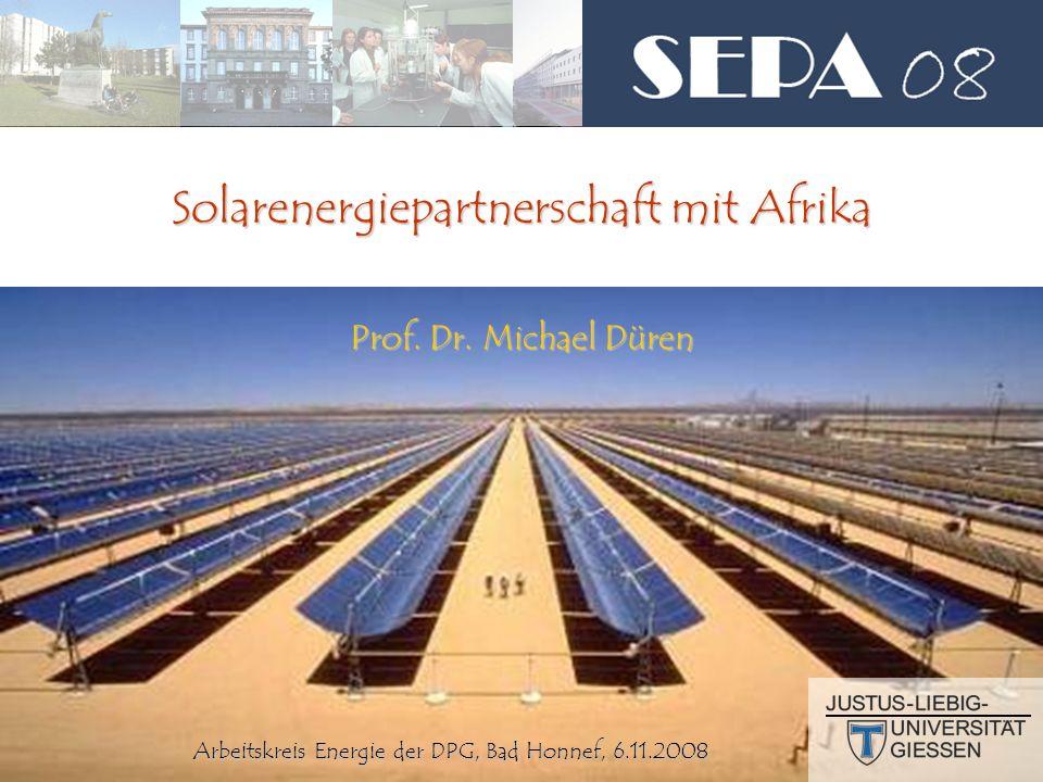 2 Motivation Motivation Folgerung Folgerung Konkrete Projekte Konkrete Projekte Solarenergiepartnerschaft mit Afrika