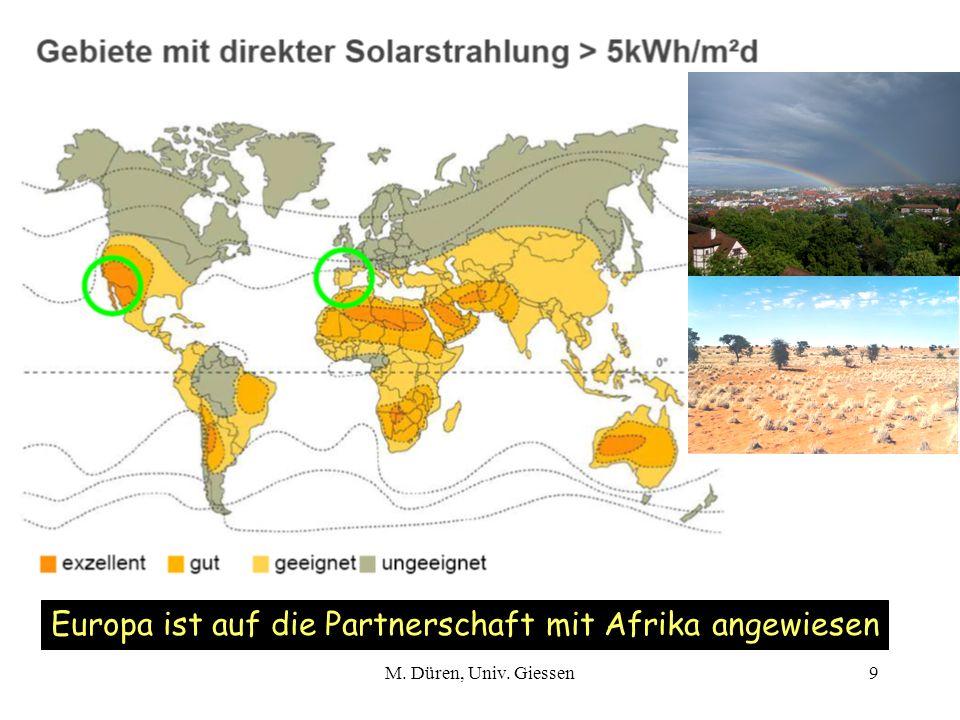 M. Düren, Univ. Giessen9 Europa ist auf die Partnerschaft mit Afrika angewiesen