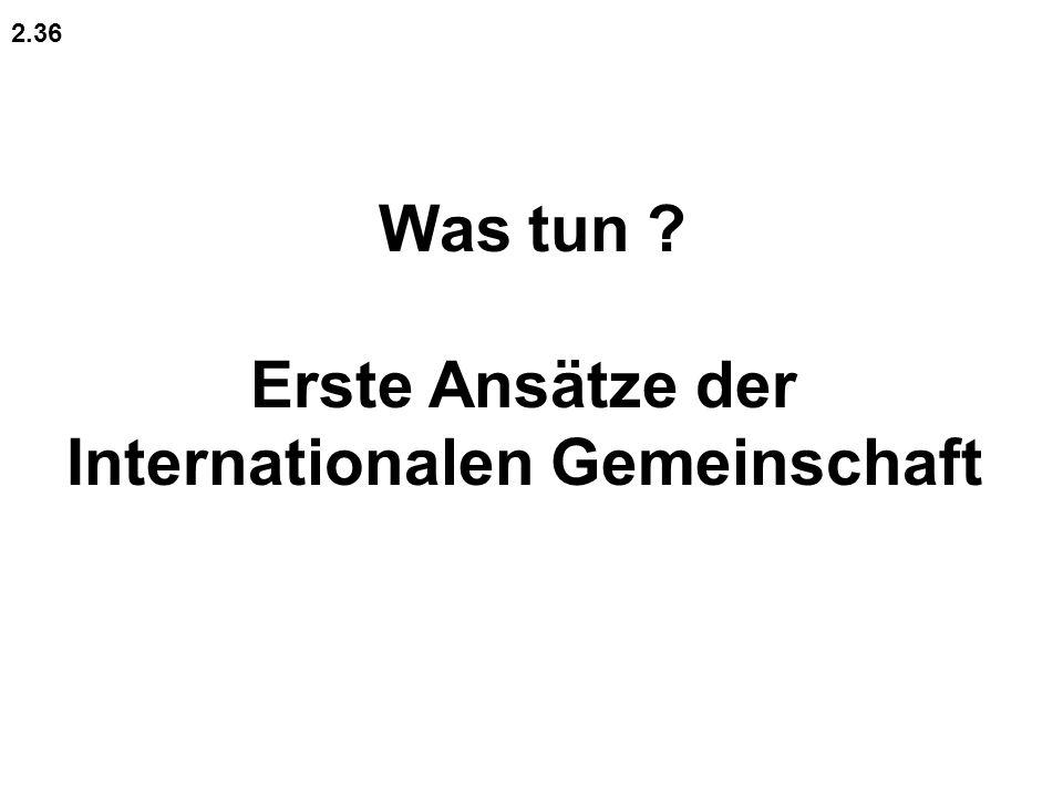 Was tun ? Erste Ansätze der Internationalen Gemeinschaft 2.36