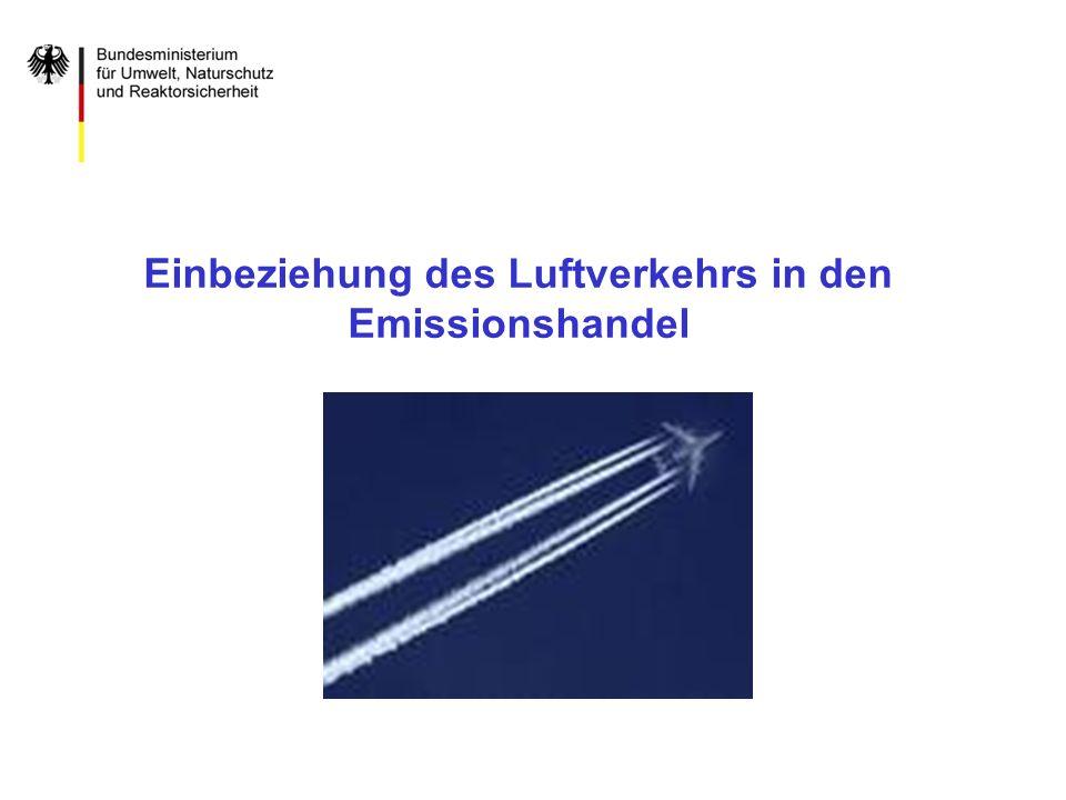Einbeziehung des Luftverkehrs in den Emissionshandel