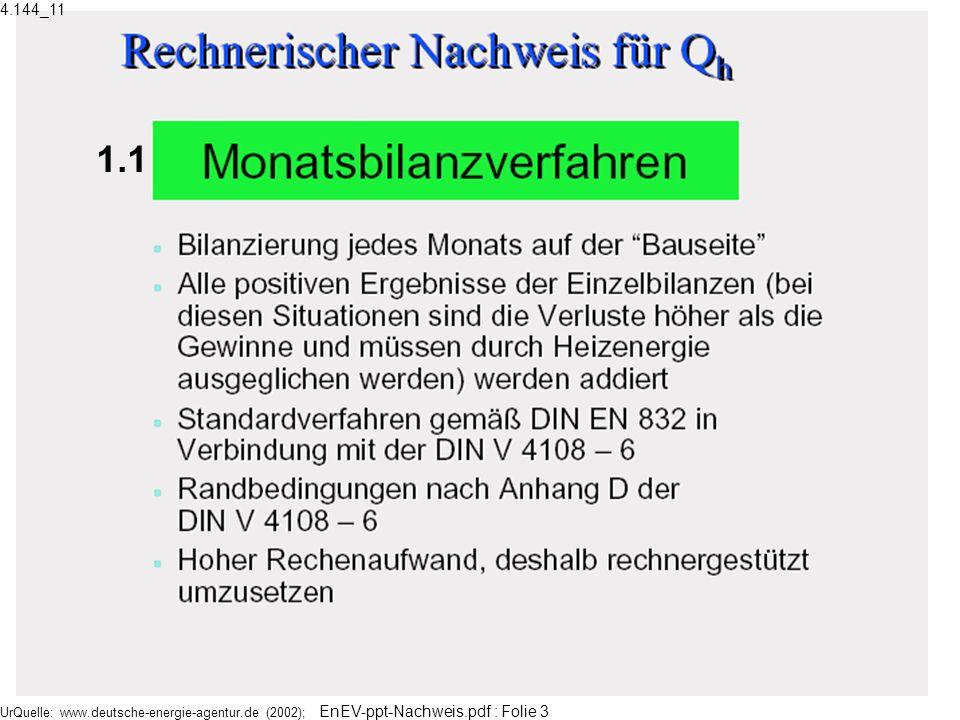 UrQuelle: www.deutsche-energie-agentur.de (2002); EnEV-ppt-Nachweis.pdf : Folie 3 1.1 4.144_11