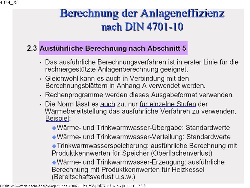 UrQuelle: www.deutsche-energie-agentur.de (2002); EnEV-ppt-Nachweis.pdf : Folie 17 2.3 4.144_23