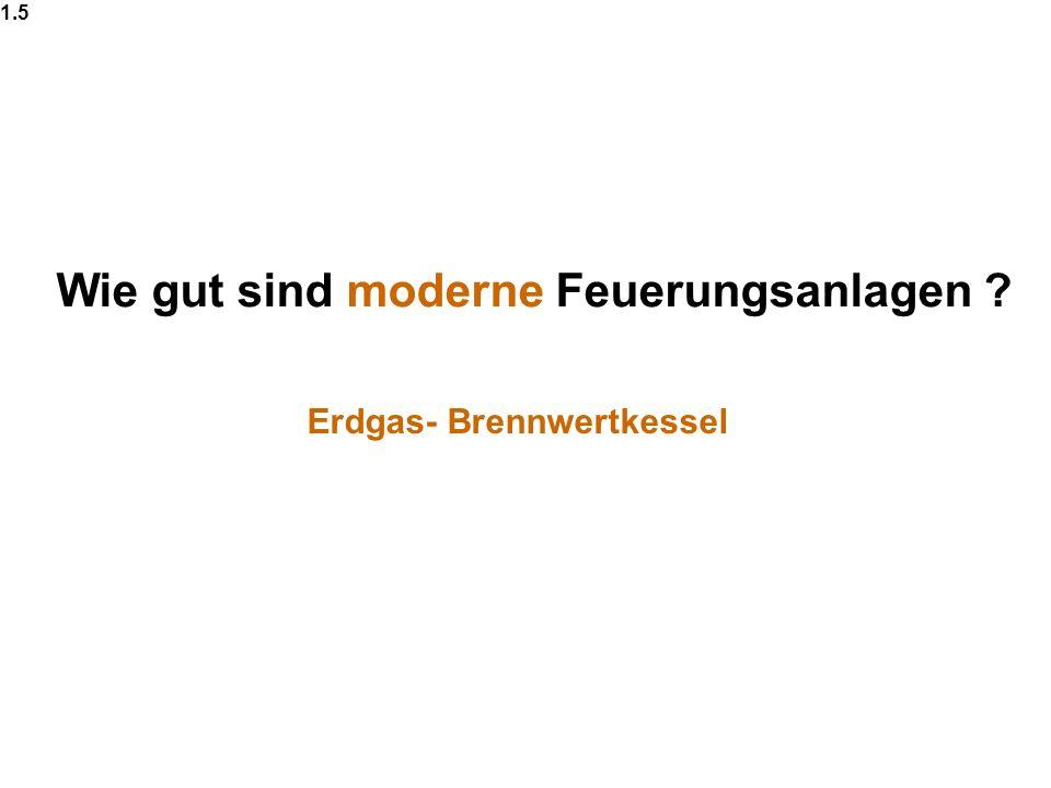Wie gut sind moderne Feuerungsanlagen ? 1.5 Erdgas- Brennwertkessel