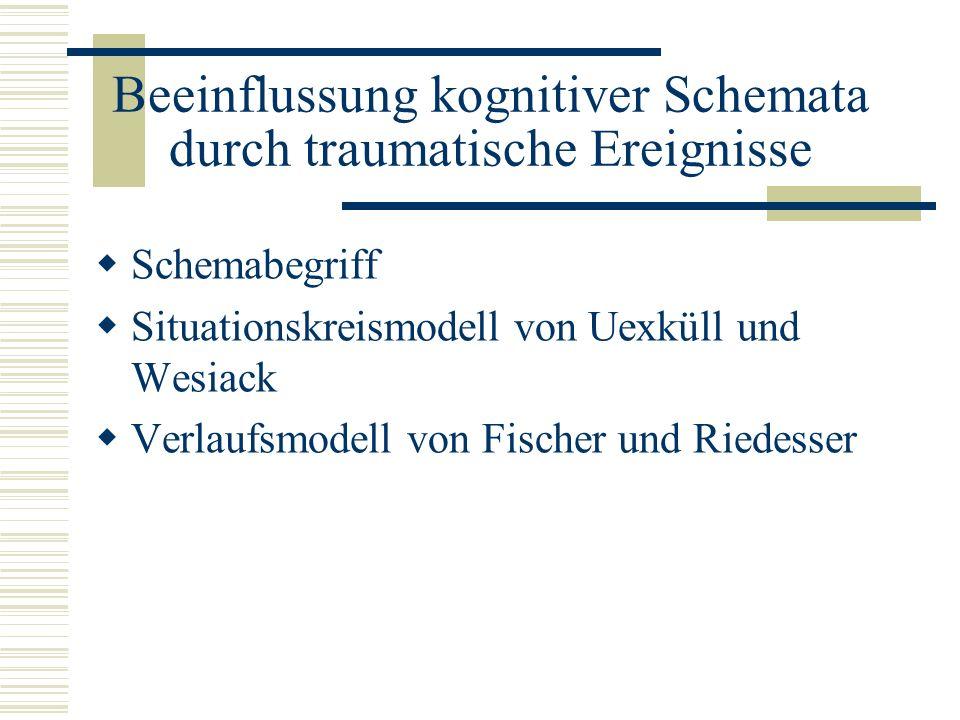 Beeinflussung kognitiver Schemata durch traumatische Ereignisse Schemabegriff Situationskreismodell von Uexküll und Wesiack Verlaufsmodell von Fischer