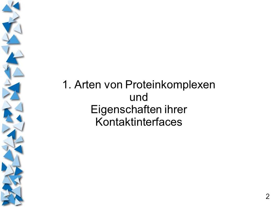 2 1. Arten von Proteinkomplexen und Eigenschaften ihrer Kontaktinterfaces