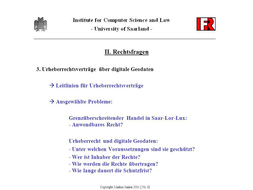 II. Rechtsfragen 3.