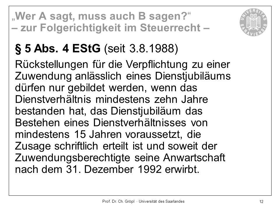 Prof.Dr. Ch. Gröpl · Universität des Saarlandes 13 § 52 Abs.