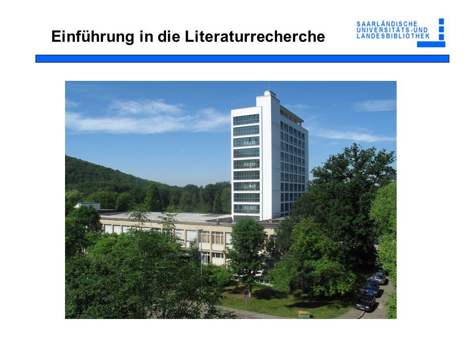 Was erwartet Sie Computerlinguistik an der UB Saarbrücken Rüstzeug für das Studium der Computerlinguistik Arten der Literaturrecherche Bibliothekskatalog Fernleihe Informationsquellen Literaturverwaltung Übungen