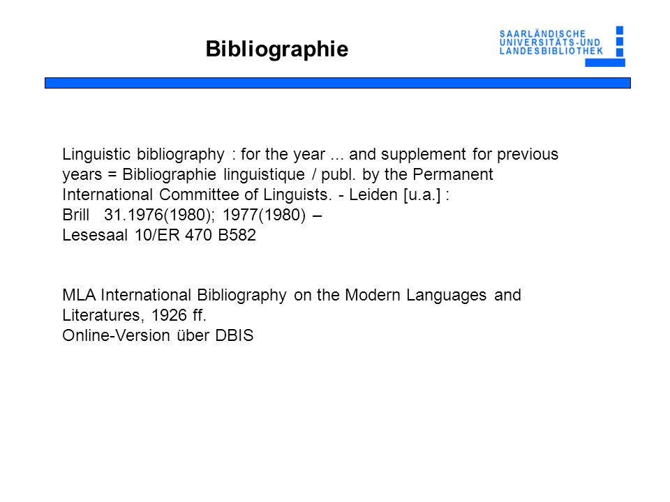 Bibliographie Linguistic bibliography : for the year...