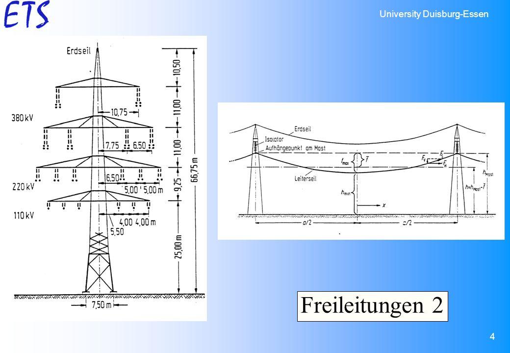 University Duisburg-Essen 4 Freileitungen 2