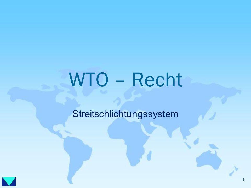 WTO – Recht Streitschlichtungssystem 1