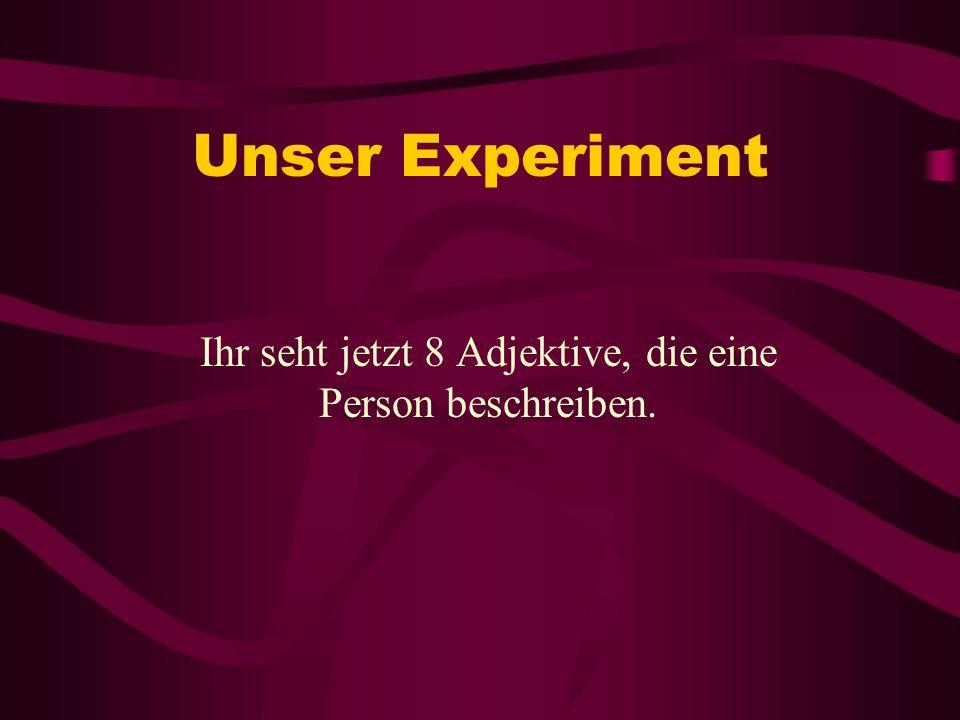 33 Folgeexperimente Hängt die Erinnerungsleistung der inkongruenten Sätze von ihrer Anzahl ab.