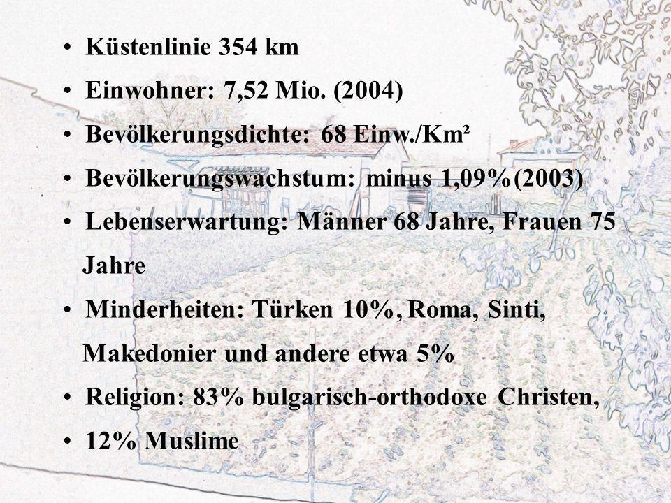 Küstenlinie 354 km Einwohner: 7,52 Mio.