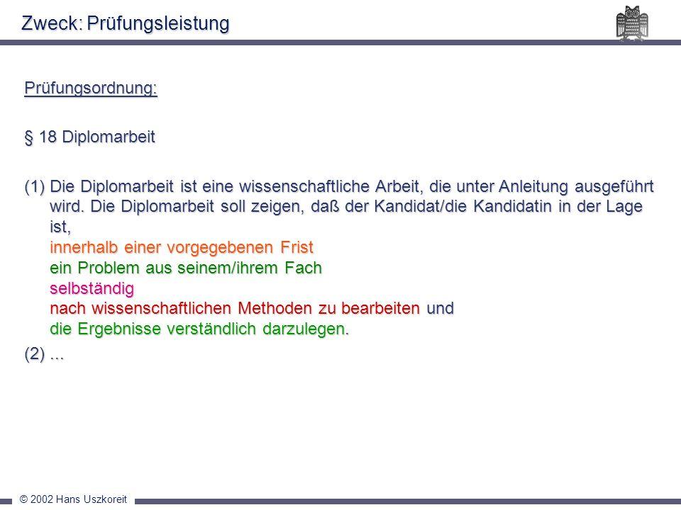 © 2002 Hans Uszkoreit Stil und Rechtschreibung Erste Person Einheitlichkeit der Überschriften Leitworte, Scherze etc.